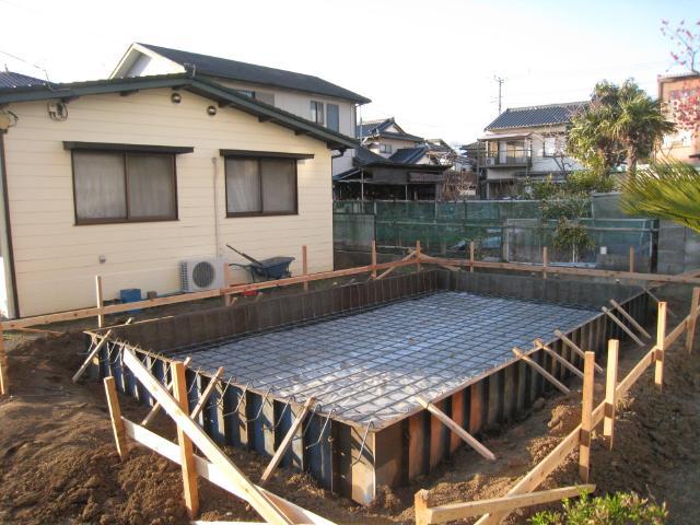 増築工事配筋コンクリート