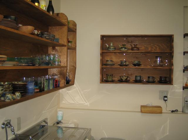 店舗改装キッチン収納