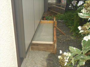 エアコン設置用コンクリート土間