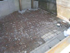 コンクリート土間打ち鉄筋工事