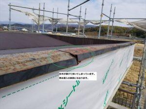 屋根笠木の劣化状況