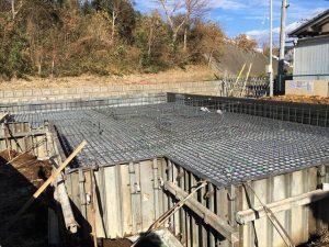 長泉町下長窪マイホーム新築工事 コンクリート打ちです
