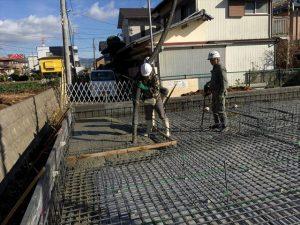長泉町下長窪マイホーム新築工事 コンクリート打ち続きです