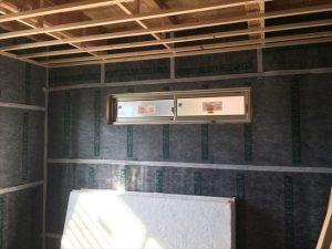 長泉町新築工事 防音室遮音シート気密テープ張りです