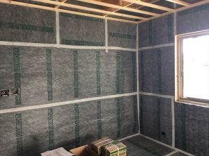 長泉町新築工事 防音室遮音シート張りです
