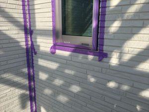 長泉町新築工事 シーリング窓に養生テープ張りです