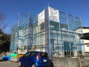長泉町新築工事 外観サイディングです