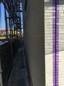長泉町新築工事 サイディングにシーリング施工です