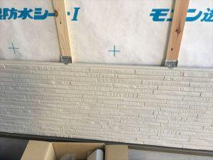 長泉町新築工事 サイディングを胴縁に金物止めです