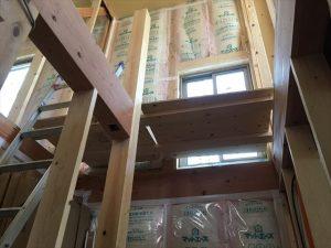 長泉町新築工事 階段室ですが、まだ会談は出来ていません