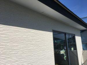長泉町 下長窪マイホーム新築注文住宅 サイディングと軒天井です