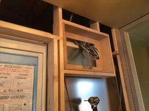 長泉町 下長窪マイホーム新築注文住宅 分電盤を壁の中に収めるとスッキリしますね