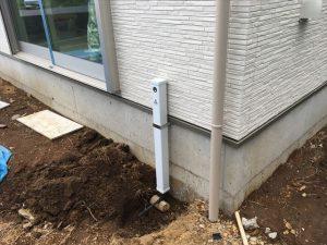 長泉町 下長窪マイホーム新築注文住宅 外水栓を付けました