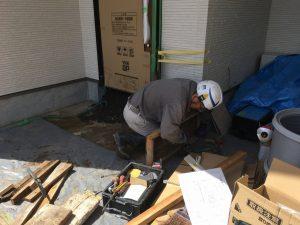 長泉町 下長窪マイホーム新築注文住宅 玄関土間型枠作業です