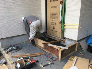 長泉町 下長窪マイホーム新築注文住宅 玄関土間打ちです
