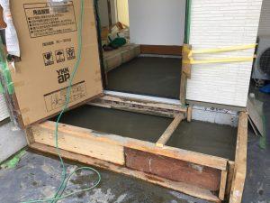 長泉町 下長窪マイホーム新築注文住宅 玄関土間コンクリート打ちです