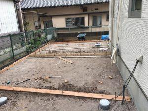 長泉町 下長窪マイホーム新築注文住宅 駐車場工事