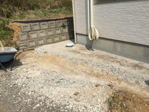 長泉町 下長窪マイホーム新築注文住宅 ブロック補修工事
