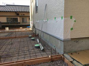 長泉町 下長窪マイホーム新築注文住宅 駐車場壁面養生