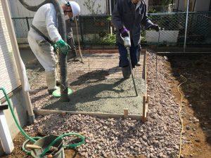 長泉町 下長窪マイホーム新築注文住宅 コンクリート打ち南面