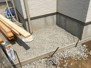 長泉町 下長窪マイホーム新築注文住宅  西側砕石敷