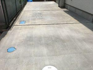 長泉町 下長窪マイホーム新築注文住宅  駐車場コンクリート