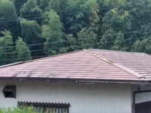伊豆の国市で台風被害の棟板金張替工事