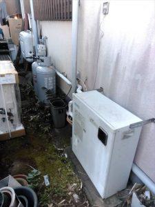伊豆の国市原木で給湯器の交換の問い合わせがあり、見に行ってきました