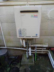 沼津市東椎路でリンナイ製給湯器に交換
