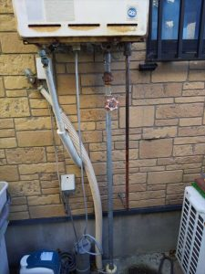沼津市下香貫でリンナイ製給湯器に交換