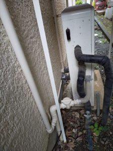 三島市東本町でリンナイ製エコジョーズ製給湯器に交換