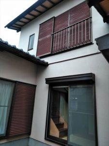 三島市 雨戸補修 木製雨戸塗装