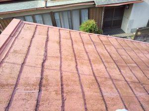函南町で雨漏りのため屋根修理 遮熱塗膜のMFシルキーでカバー工法