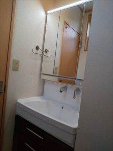 沼津市で洗面台交換工事をしました