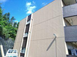 三島市でアパート全面塗装
